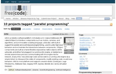 http://freecode.com/tags/parallel-programming