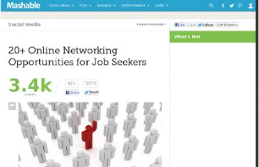 http://mashable.com/2012/02/19/niche-job-networking-websites/