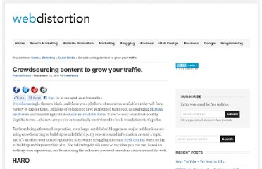 http://www.webdistortion.com/2011/09/18/crowdsourcing-content-to-grow-your-traffic/