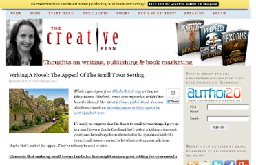 http://www.thecreativepenn.com/2011/06/22/writing-novel-small-town-setting/