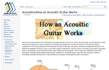 http://en.wikibooks.org/wiki/Acoustics/How_an_Acoustic_Guitar_Works