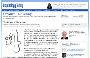 http://www.psychologytoday.com/blog/creative-thinkering/201201/the-power-metaphors