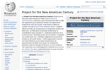 http://fr.wikipedia.org/wiki/Project_for_the_New_American_Century