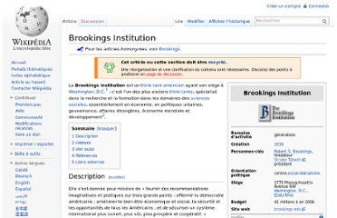 http://fr.wikipedia.org/wiki/Brookings_Institution