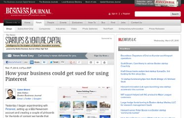 http://www.bizjournals.com/boston/blog/startups/2012/02/pinterest-copyright-issues.html