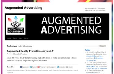 http://www.augmentedadvertising.com/tag/video-3d-mapping/