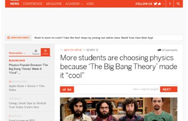 http://thenextweb.com/shareables/2011/11/18/more-students-are-choosing-physics-because-the-big-bang-theory-made-it-cool/