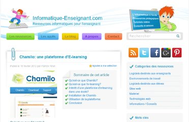 http://www.informatique-enseignant.com/chamilo-plateforme-e-learning/#more-86