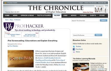 http://chronicle.com/blogs/profhacker/ipad-screencasting-educreations-and-explain-everything/38662