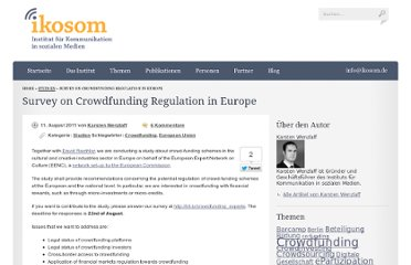 http://www.ikosom.de/2011/08/11/survey-on-crowdfunding-regulation-in-europe/