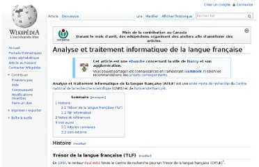 http://fr.wikipedia.org/wiki/Analyse_et_traitement_informatique_de_la_langue_fran%C3%A7aise