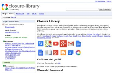 http://code.google.com/p/closure-library/