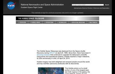 http://asd.gsfc.nasa.gov/archive/hubble/