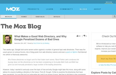 http://www.seomoz.org/blog/what-makes-a-good-web-directory-and-why-google-penalized-dozens-of-bad-ones