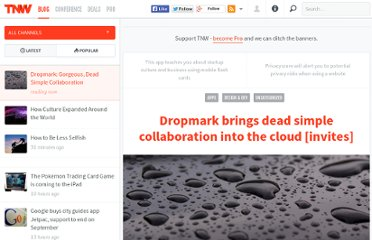 http://thenextweb.com/apps/2012/02/20/dropmark-brings-dead-simple-collaboration-into-the-cloud-invites/