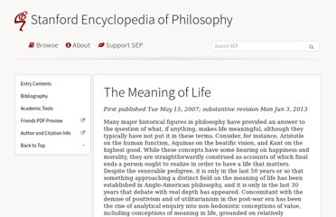 http://plato.stanford.edu/entries/life-meaning/
