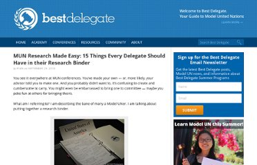 http://bestdelegate.com/mun-research-made-easy-15-things-every-delegate-should-have-in-their-research-binder/