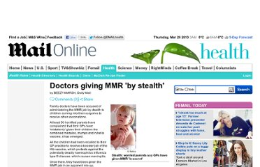 http://www.dailymail.co.uk/health/article-200847/Doctors-giving-MMR-stealth.html