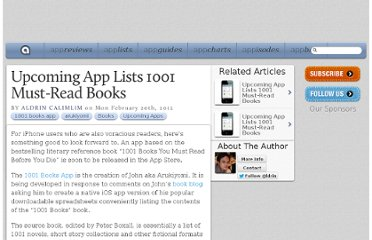 http://appadvice.com/appnn/2012/02/upcoming-app-lists-1001-must-read-books