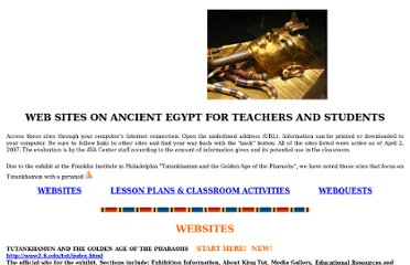 http://www.cumbavac.org/Ancient_Egypt.htm#lesson%20plans