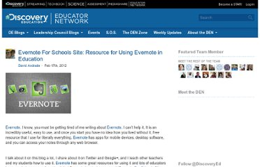 http://blog.discoveryeducation.com/blog/2012/02/17/evernote-for-schools-site-resource-for-using-evernote-in-education/