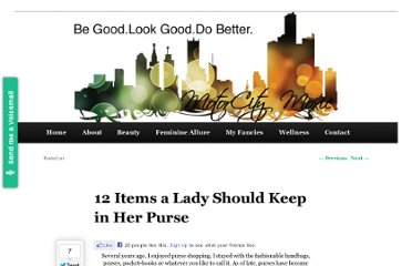 http://motorcitymoxie.com/12-items-a-lady-should-keep-in-her-purse/