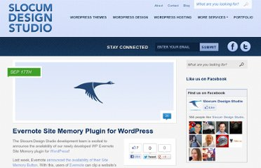 http://slocumstudio.com/2010/09/evernote-site-memory-plugin-for-wordpress/