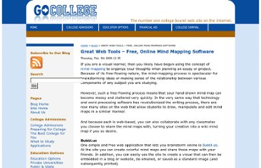 http://blog.gocollege.com/2009/02/05/great-web-tools-free-online-mind-mapping-software/