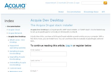 https://docs.acquia.com/dev-desktop