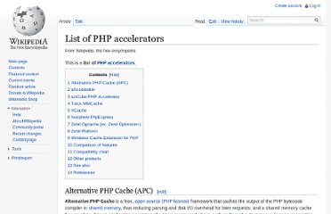 http://en.wikipedia.org/wiki/List_of_PHP_accelerators