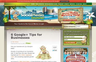 http://www.socialmediaexaminer.com/6-google-tips-for-businesses/