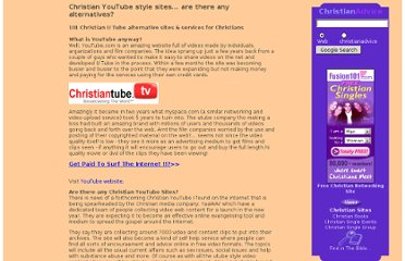 http://www.christianadvice.net/christian-youtube-style-sites.htm