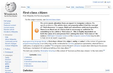 http://en.wikipedia.org/wiki/First-class_citizen