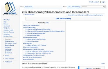 http://en.wikibooks.org/wiki/X86_Disassembly/Disassemblers_and_Decompilers#Decompilers