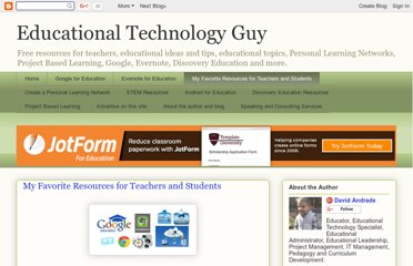http://educationaltechnologyguy.blogspot.com/p/my-favorite-resources-for-teachers-and.html