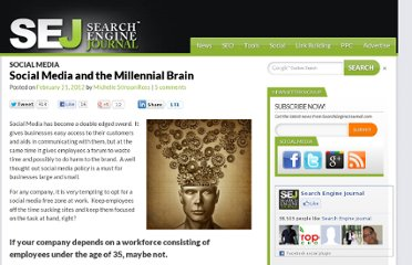 http://www.searchenginejournal.com/social-media-and-the-millennial-brain/40424/