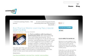 http://www.learningweb.com/2012/02/five-practical-mobile-learning-tips-upside-learning-blog/