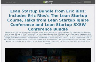 http://www.udemy.com/bundle/the-lean-startup-bundle