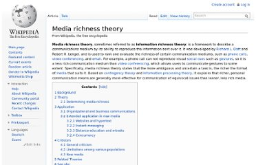 http://en.wikipedia.org/wiki/Media_richness_theory