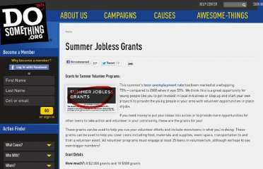 http://www.dosomething.org/grants/summer-jobless-grants