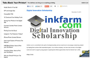 http://www.inkfarm.com/Digital-Innovation-Scholarship