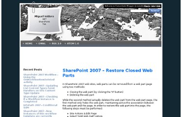 http://blogit.create.pt/blogs/miguelisidoro/archive/2007/11/10/SharePoint-2007-_1320_-Restore-Closed-Web-Parts.aspx