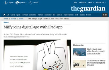 http://www.guardian.co.uk/books/2012/feb/21/miffy-digital-age-ipad-app