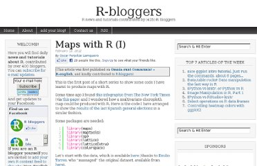 http://www.r-bloggers.com/maps-with-r-i/