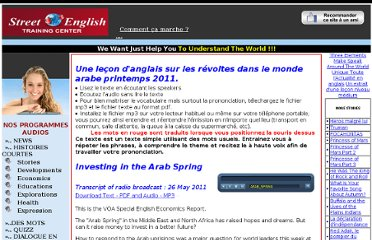http://parler.anglais.free.fr/lemission.php?notips=126&lemission=arab_spring&codebase=arab_spring&categorie=Stories