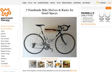 http://www.apartmenttherapy.com/5-handmade-bike-shelves-for-ap-148404