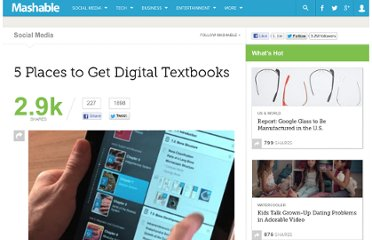 http://mashable.com/2012/02/20/find-digital-textbooks/#492871-Project-Gutenberg