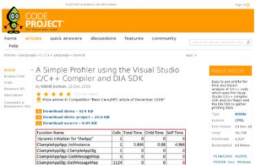http://www.codeproject.com/Articles/47532/A-Simple-Profiler-using-the-Visual-Studio-C-C-Comp