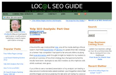http://www.localseoguide.com/yelp-seo-analysis-part-one/