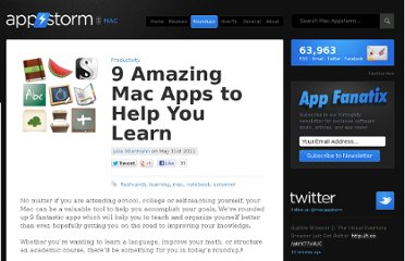http://mac.appstorm.net/roundups/productivity-roundups/9-amazing-mac-apps-to-help-you-learn/#more-21317